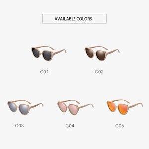 Image 5 - AOFLY BRAND DESIGN Sunglasses Womens Bamboo Polarized Sunglasses HAND MADE Bamboo Frame Classic Gafas de sol Shades UV400 AF608