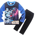 2017 Algodón de Los Cabritos Muchachos Adolescentes Cartoon Star Wars Homewear ropa de Dormir de Manga Larga Ropa Fijada Para 4-12 Años de Edad Muchachos de los niños