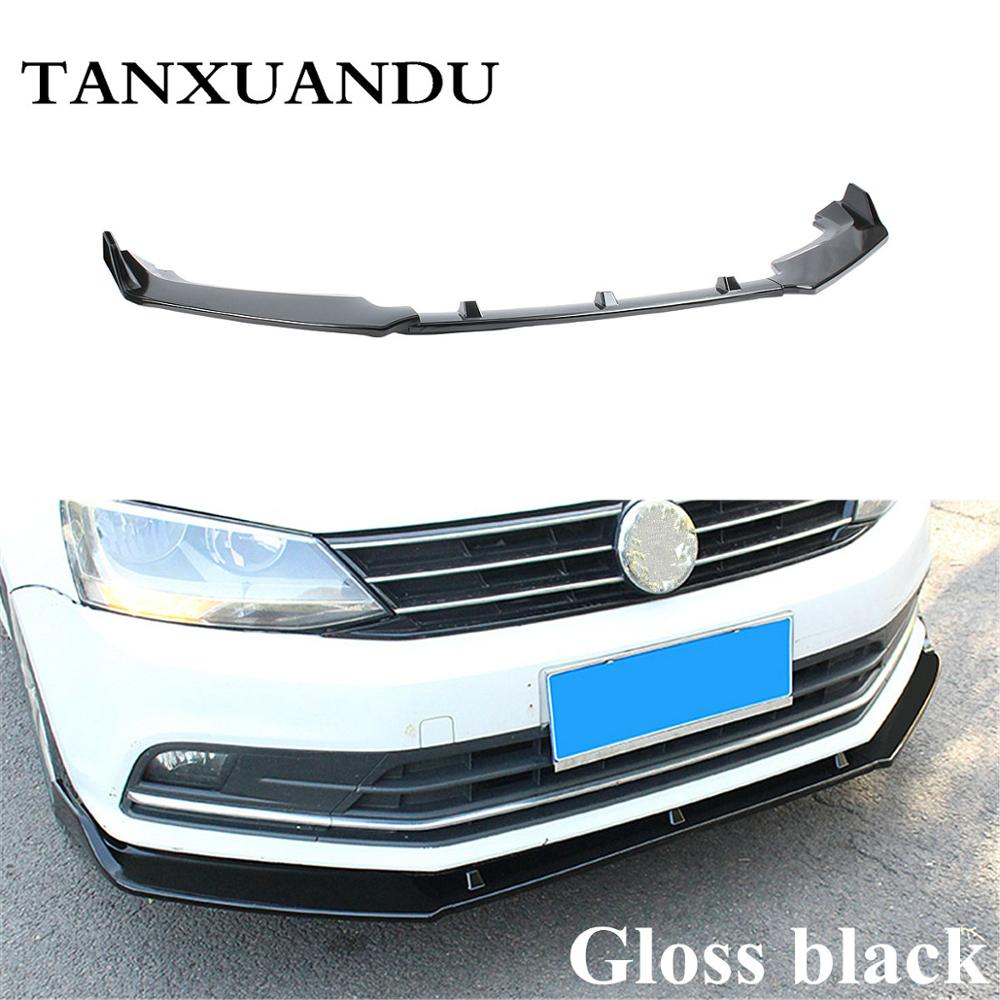 Painted Matte Black 3 Stage Front Bumper Lip Spoiler Underbody Wing JX Sport Type Fit For