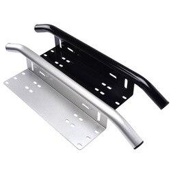 Luces universales marco de la placa de la licencia de trabajo placa de montaje braqueta soporte Offroad barra de la luz del toro barra delantera parachoques antiniebla