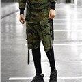 Nuevo 2016 hombres de marca de algodón de ocio sueltos pantalones cortos hombre disfraz de gran tamaño M-militar de camuflaje shorts XL overoles