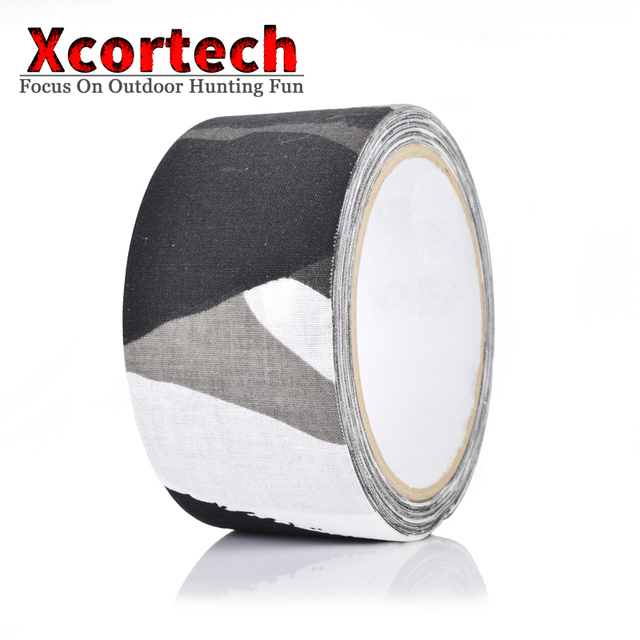 Outdoor 5cmX10M Camouflage Adhesive Bionic Tape Pro Camo Cloth Duct Snow Pattern Tape For Hunting