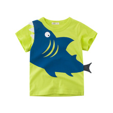 2019 Summer Cotton Boys T Shirt  Baby Boys Cartoon Shark Printed Short Sleeve O-Neck Cute Clothes For Kids Boys Tee Shirt Tops cotton boys t shirt excavator summer 2019 cartoon frog printed short sleeve t shirt for kids boys tee shirt dinosaur tops
