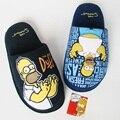 Sapatas Dos Homens de inverno Algodão dos homens Calçado Chinelos Homer Simpson Simpson Chaussons Zapatillas Casa Chinelo Casa