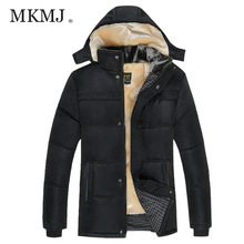 Men Plus Velvet Thickening Cotton Coat Winter Fur Lined Casual Warm Vest Underwear Hooded Down Jacket Lightweight Coat AML356