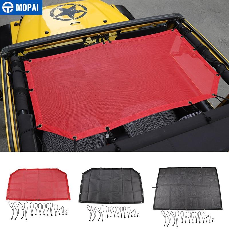 MOPAI Car Top Sunshade Cover for Jeep Wrangler 1997 2006 Roof Anti UV Sun Sunshade Protect