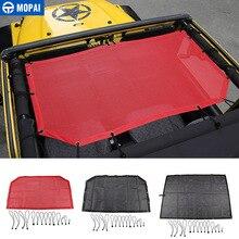 Mopai車トップサンシェード用ジープラングラー 1997 2006 屋根の抗uv太陽の日よけのための保護ネットジープラングラーtjアクセサリー