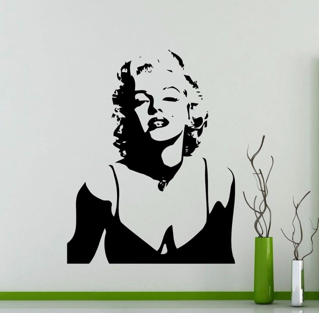 Marilyn Monroe Wall Decals Home Design Decoration Vintage Poster Beauty  Salon Wall Art Vinyl Wall Stickers For Girls Rooms A895