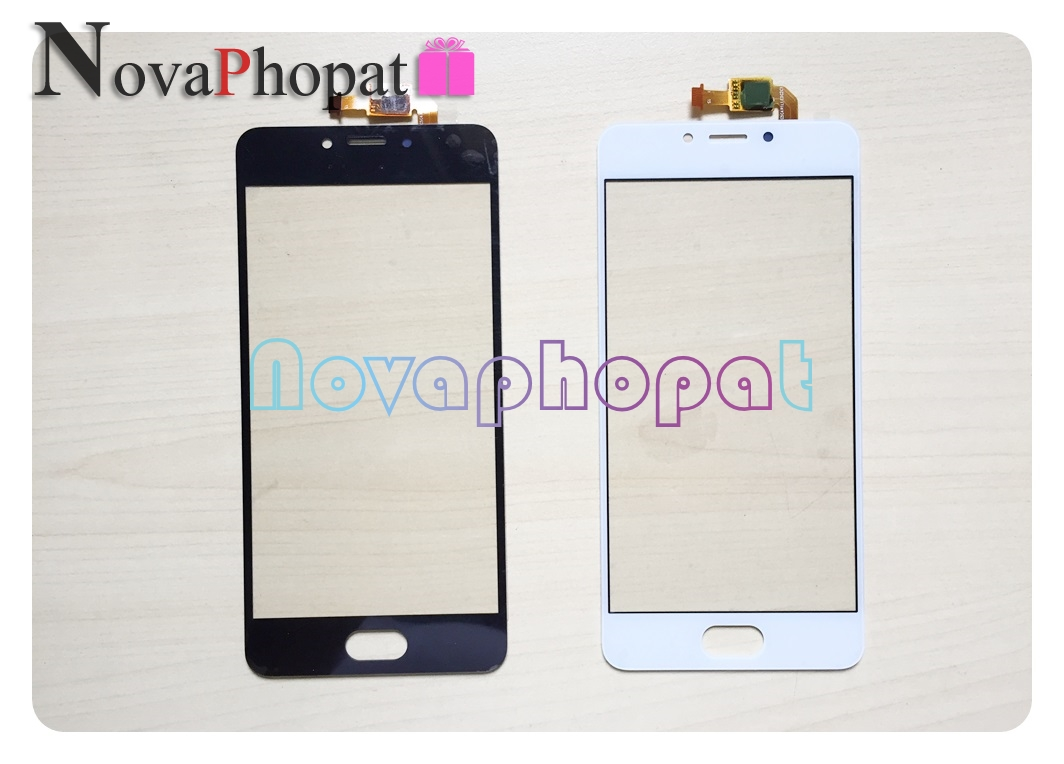 Novaphopat Black/White Sensor For Meizu M5C / Meilan 5C / M5s  M5 S Touch Screen Digitizer Glass Panel Replacement + Tracking