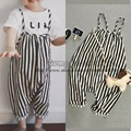 2016 new bobo choses spring summer kids nununu striped overalls for baby girls boys children jumpsuit bebe cute unisex romper