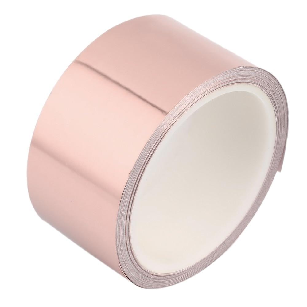 50mm X 10M Universal Adhesive Single Side Conductive Copper Foil Tape EMI Shield Copper Strip High Temperature Resistant Tape