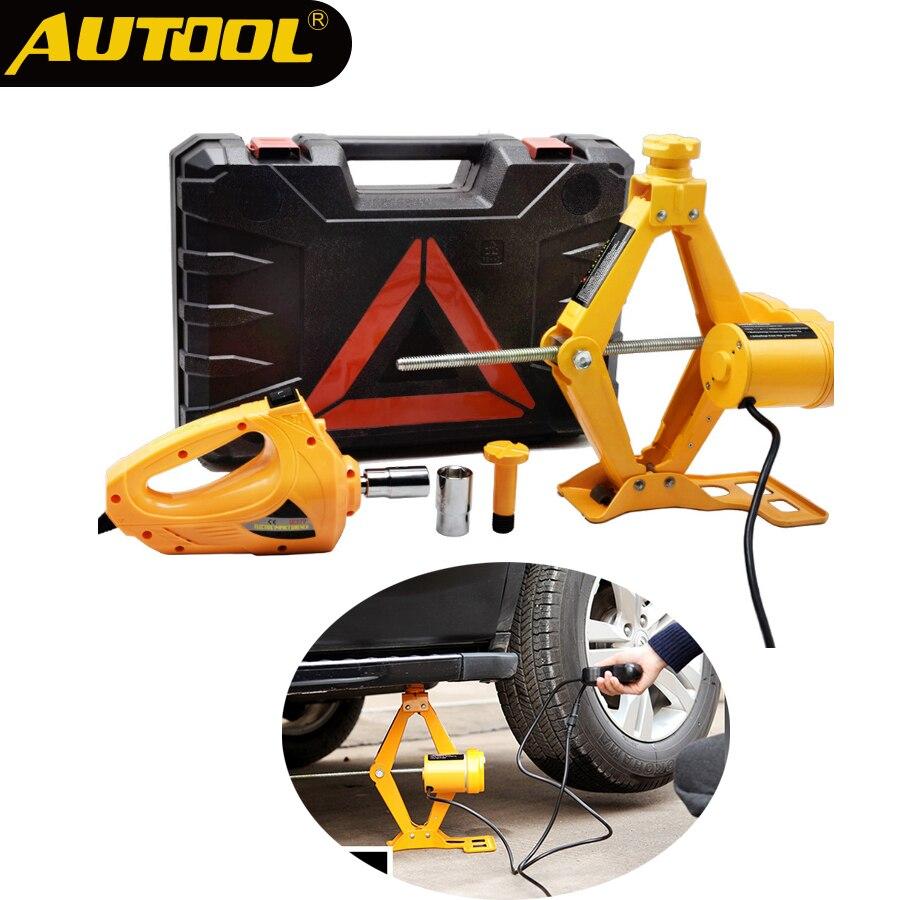 Универсальный 3Ton Электрический Джек набор 12 в 42 см автомобиль внедорожник внедорожный аварийный ремонт шин замена инструмента автомобиль 3...