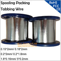 Spool Packing Solar Cell Tabbing Wire Size 0 15x2mm 0 18 2mm 0 2x2mm 0 2