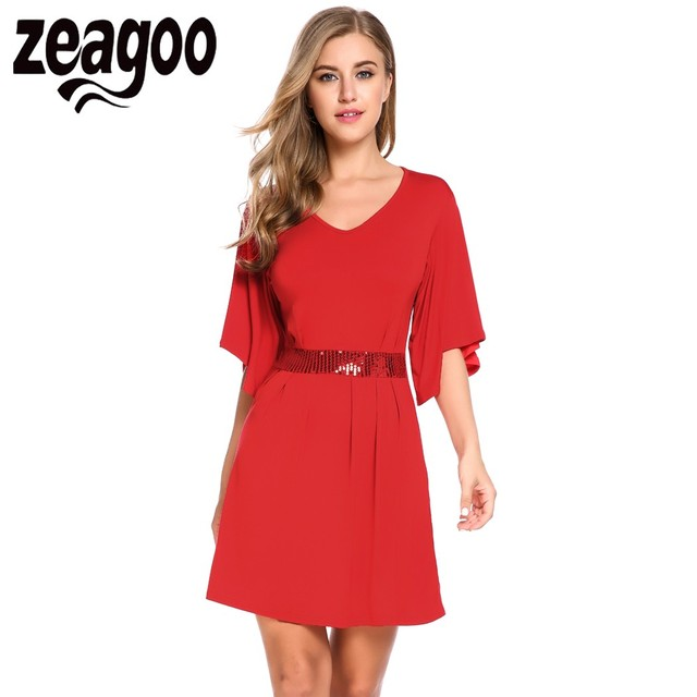 Bell Sleeve Casual Dresses