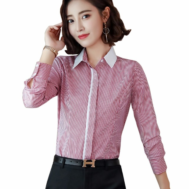 841513b8b6a 2018 New WINTER women professional blouse formal long sleeve blouse office  ladies plus size shirts