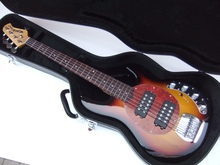 Free Hardcase  New Music-man Ernie ball 5 string Ray electric bass in sunburst