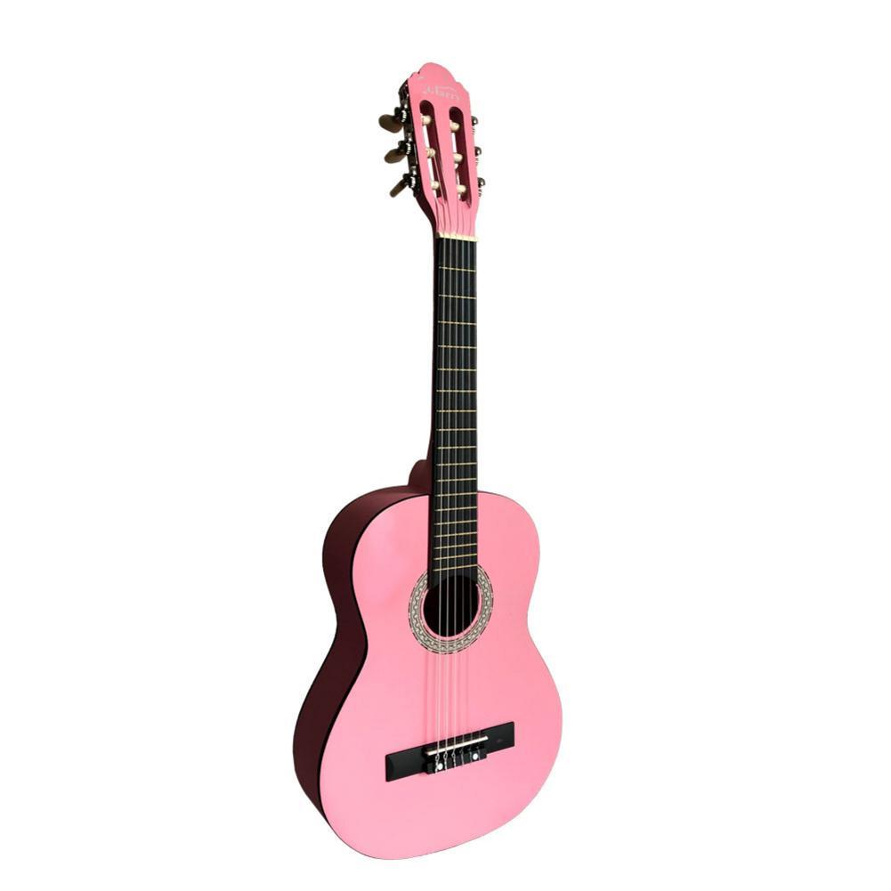 Ukulélé 30 pouces Ukelele hawaïen épicéa Top Eucalyptus mat guitare classique rose + sac + pagaie + ficelle - 4