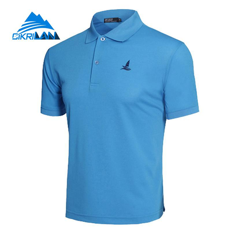 Men Outdoor Sport Hiking Climbing Fishing T Shirt Basketball Running Shirt Soccer Camiseta Quick Dry Fitness Shirts In Short Supply Hiking T-shirts