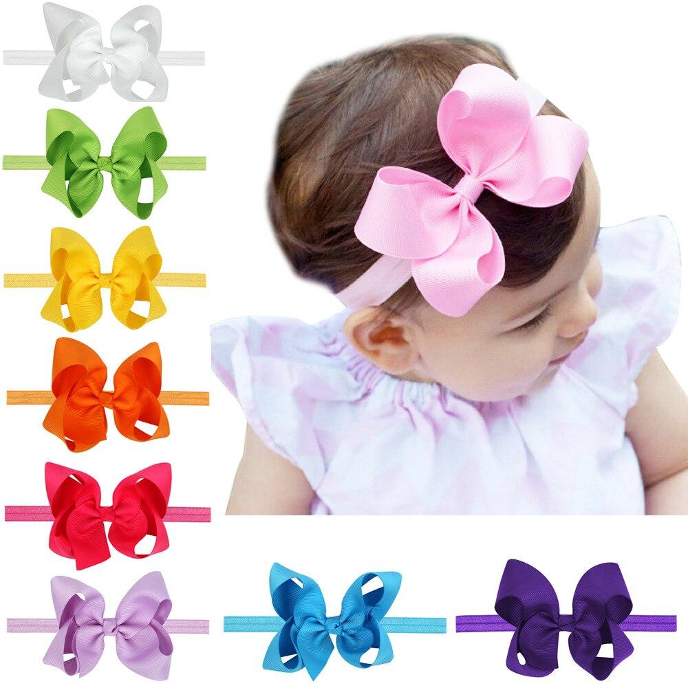 1 Piece MAYA STEPAN Children's Girls Bow Hair Head Band 12 color selection Baby Newborn Hair Rope Headband   Headwear   Headwrap