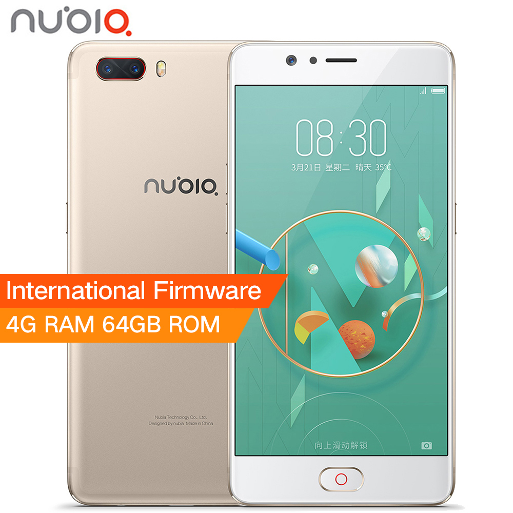Original ZTE Nubia M2 4G LTE Snapdragon 625 Cell Phone 5.5 1080P 4G RAM 64GB ROM 16.0MP Dual Card 3630mAh Battery Mobile Phone