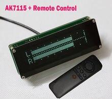AK7115 Vfd Muziek Spectrum Display Analyzer Audio Stereo Niveau Indicator Ritme Vu Meter Vfd Colck + Afstandsbediening Versterker