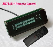 AK7115 vfd音楽スペクトラム表示アナライザオーディオステレオレベルインジケータリズムvuメーターvfd colck + リモートコントロールアンプ