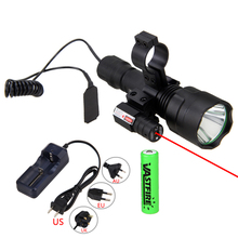 Hunting Torch Light Laser Dot Sight Scope Tactical Flashlight T6 LED Torch Pressure Switch Mount for Hunting Fishing Detector hunting sports rifle universal mount adapter for flashlight laser torch sight scope 1 inch