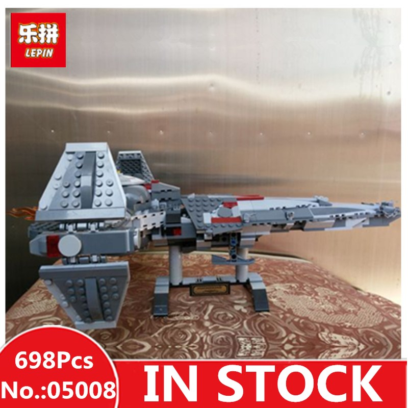 IN STOCK 698pcs LEPIN 05008 Star Sith Infiltrator Figure Marvel Building Blocks wars Set Toys Compatible