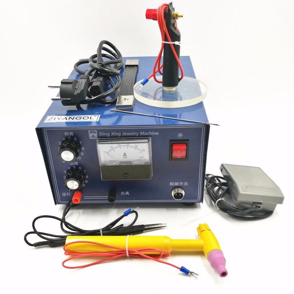 DX-50A 0 5-30A 400W Spot Welding Hand-held Pulse Spot Welder Welding Machine Necklace Welding Machine Jewelry Processing