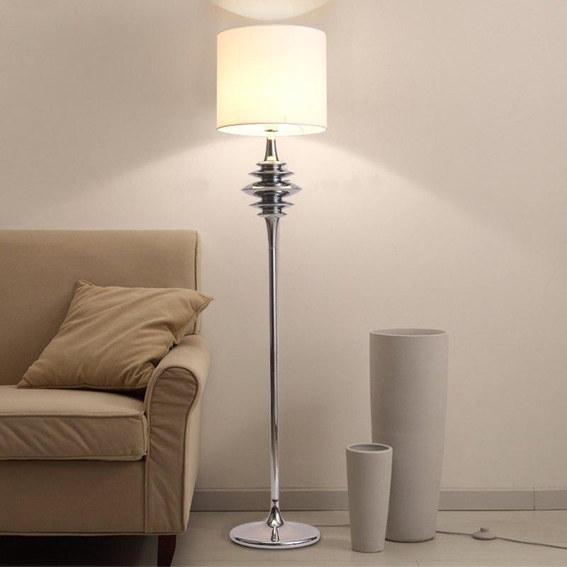 Modern Floor Lights Standing Lamps For Living Room Loft Floor Lamp Kids Long Floor Stand Lamp Chrome Cloth Fabric E27 110-240V kunai earring