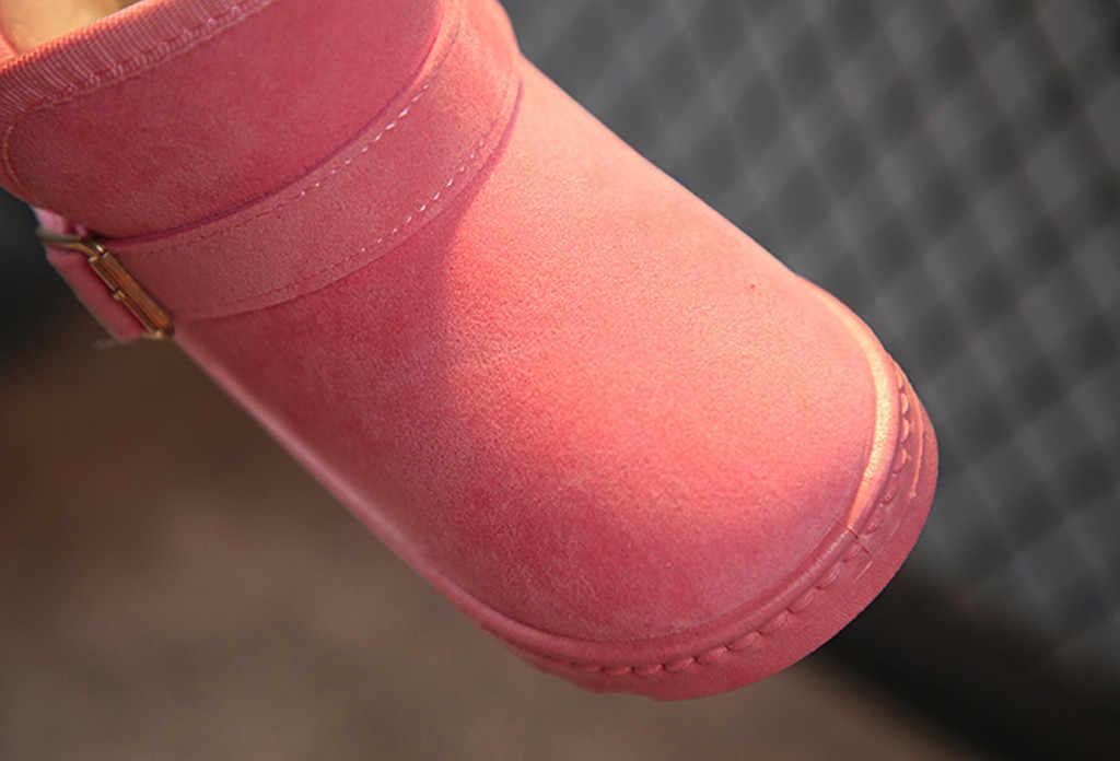 ילדי ילדי כותנה 2018 חמוד מכירה לוהטת פעוט בנות שלג חם מוצק מזדמן צאן אנטי להחליק נעליים #30