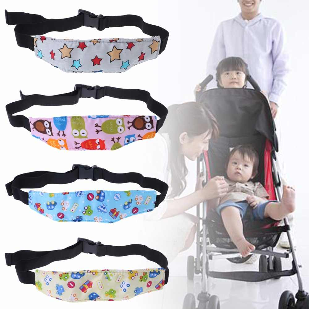 d8a465efd21 Car Seat Baby Safety Head Pads Protector Sleeping Head Fixing Belt Cushion  Positioner Stroller Accessories Kids