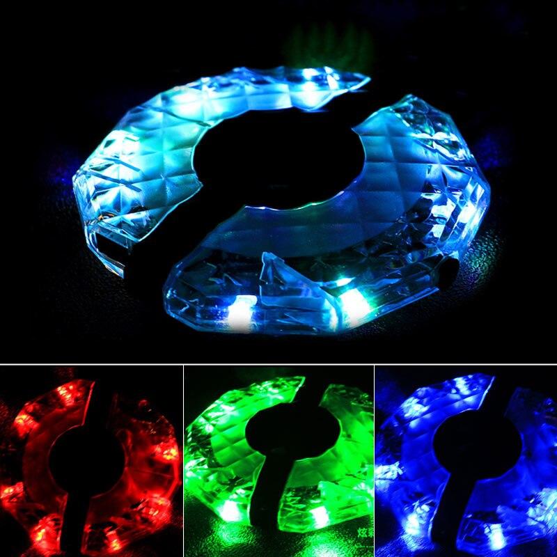1/2pcs Rechargeable LED RGB Colorful Bike Wheel Hub Light Waterproof Bicycle Spoke Lights For Safety Warning Decor YA88