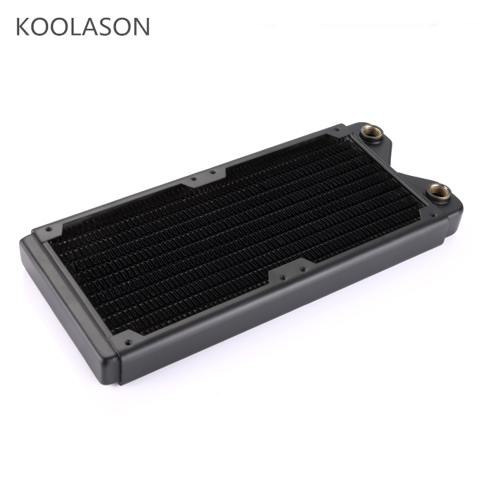 240*120*27mm Black Computer PC Water Liquid cooling Discharge Copper dense fin heat exchanger radiator fan Heat sink G1/4 семена огурец вагнер f1 6шт