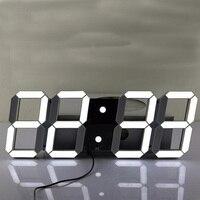Creative Remote Control Large LED Digital Wall Clock Modern Design Home Decor 3d Watch
