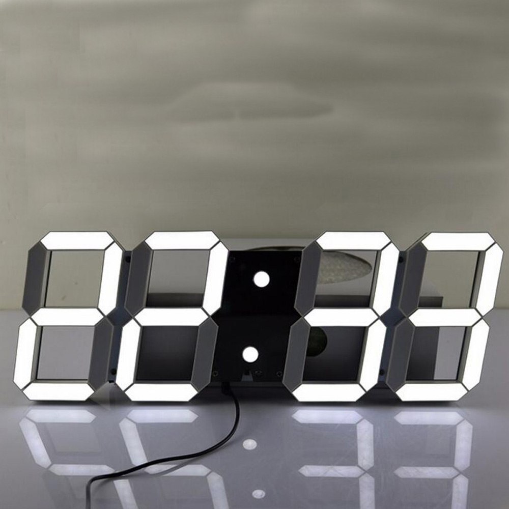 Aliexpress buy creative remote control large led digital aliexpress buy creative remote control large led digital wall clock modern design home decor 3d watch from reliable 3d watch suppliers on shenzhen amipublicfo Images