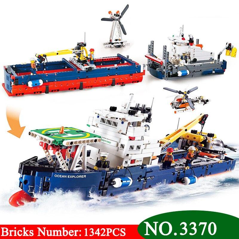 1342Pcs 3370 Technic Series Ocean Explorer Model Building Kits Blocks DIY Bricks Toy For Children Gift
