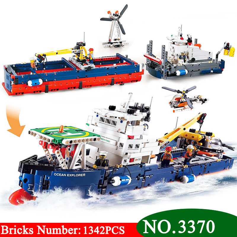 1342Pcs 3370 Technic Series Ocean Explorer Model Building Kits Blocks DIY Bricks Toy For Children Gift Compatible With 42064