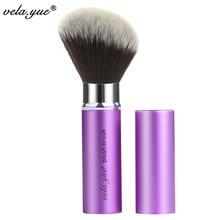 vela.yue Retractable Angled Face Blend Contour Highlight Blush Makeup Brush Beauty Tool