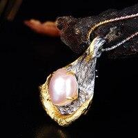 Оптовая продажа с фабрики высокая конец пользовательские S925 серебро барокко в форме жемчуг кулон и брошь двойного назначения Дамы ювелирны