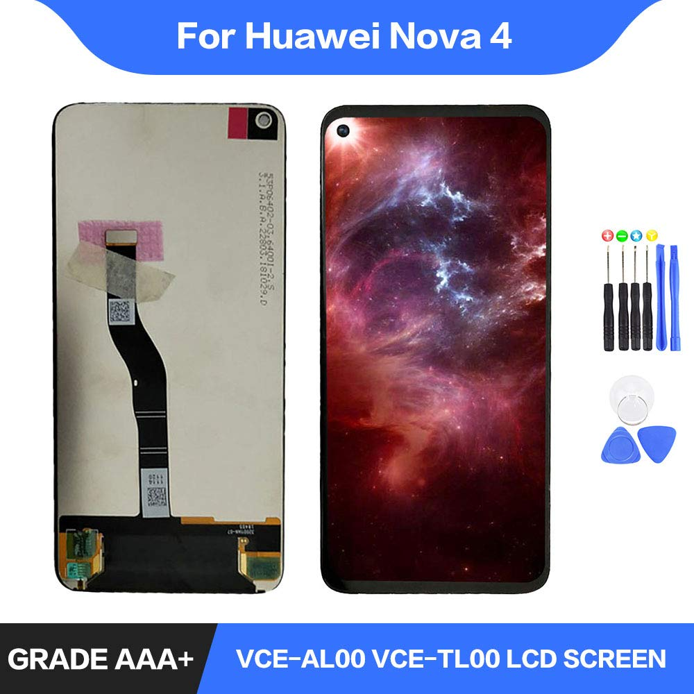 Original 6.4 for Huawei Nova 4 LCD Display Touch Screen Digitizer Assembly LCD Display TouchScreen for Nova 4 Repair PartsOriginal 6.4 for Huawei Nova 4 LCD Display Touch Screen Digitizer Assembly LCD Display TouchScreen for Nova 4 Repair Parts