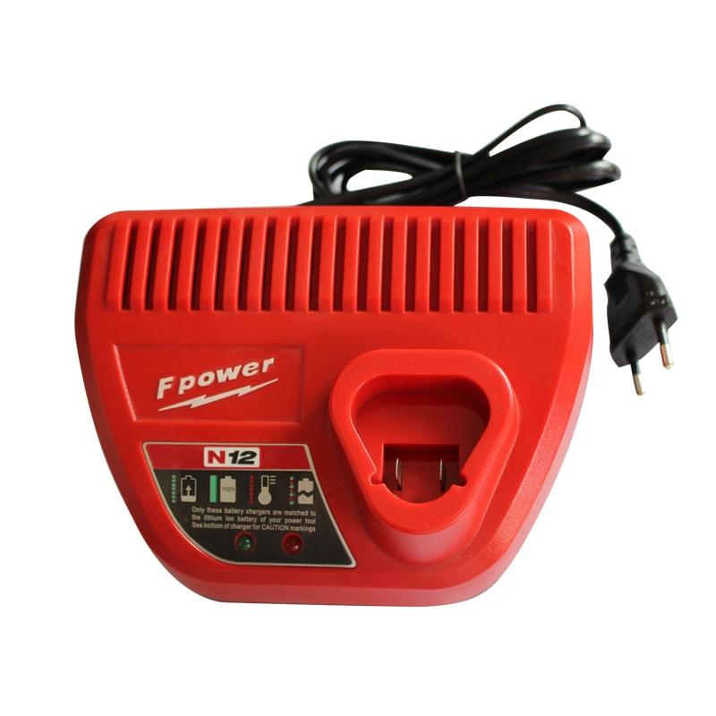 Dawupine M12 литий-ионный Батарея Зарядное устройство N12 для Milwaukee 10.8 В 12 В M12 48-11-24xx серии литиевая -ионный Батарея