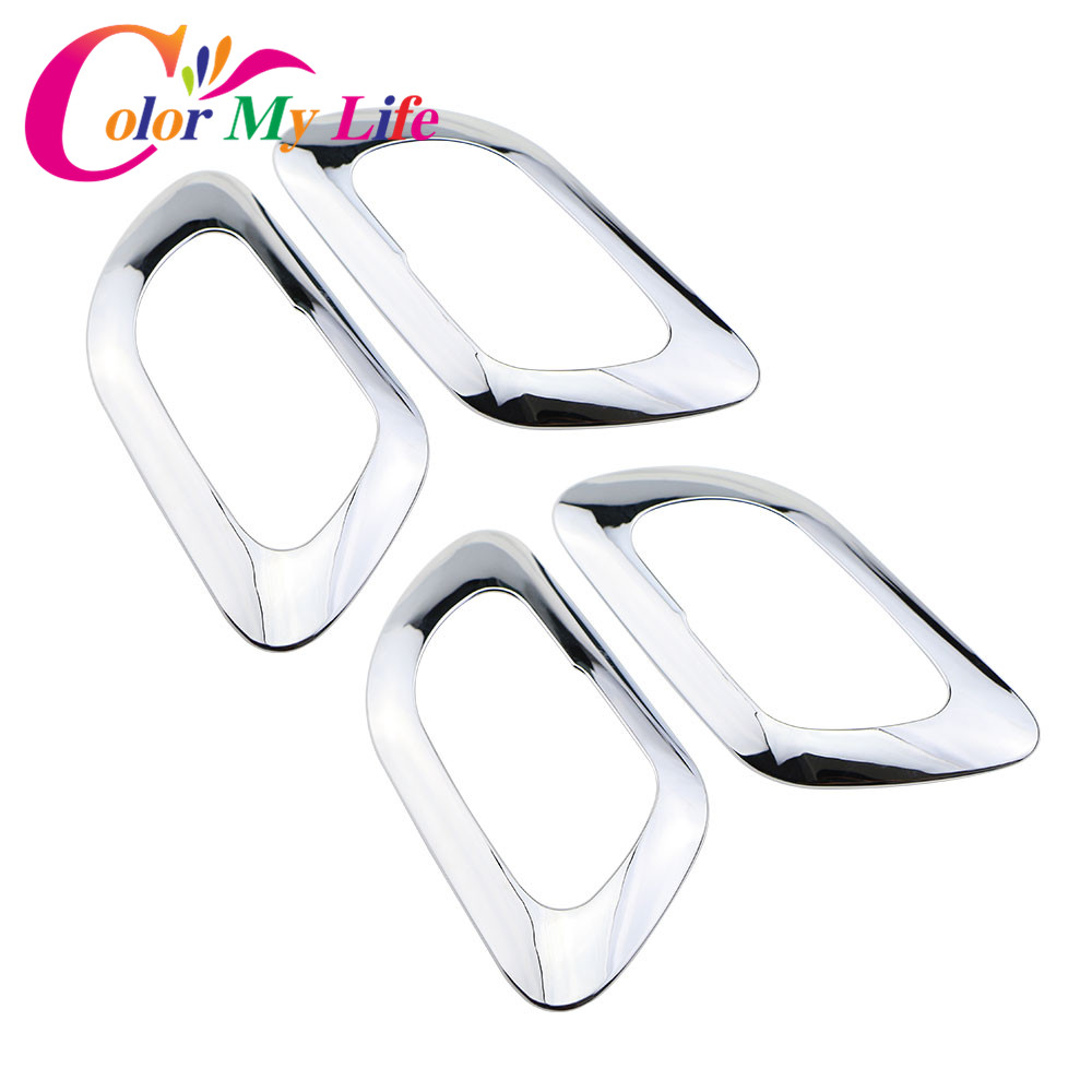 Color My Life ABS Chrome Inner Door Handle Cover Protection Trim Sticker For Peugeot 3008 2013 2014 2015 Accessories 4Pcs/Set