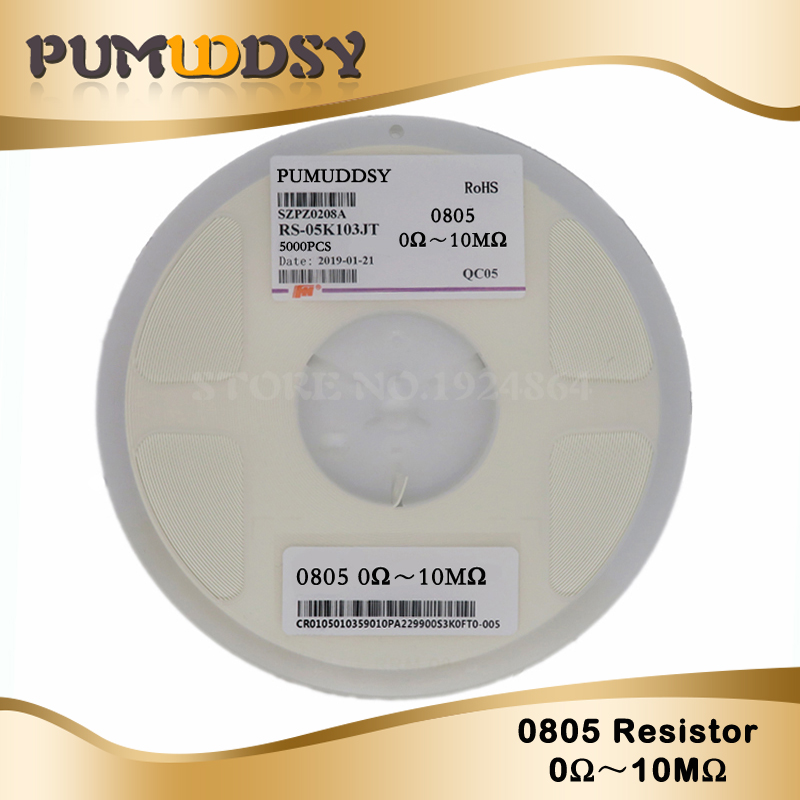 1/8w-Chip Resistor 0R 100R 0805 Smd 470-Ohm 10K 330R 470R 10M 220R 5000pcs 10-100-330