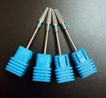 "1pcs/set 3/32"" Nail Drill – Carbide – (Medium ) Nail Bit (Silver) new nail art salon nail file drill bit 602801"