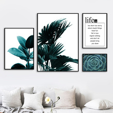Palm Fern Leaves Cactus Succulent Plants Wall Art Canvas Painting Nordic Posters And Prints Wall Pictures For Living Room Decor