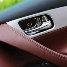 hot deal buy interior accessories for infiniti qx70 fx35 qx80 ex g series door handle wrist bowl cup protect decorate cover sticker frame