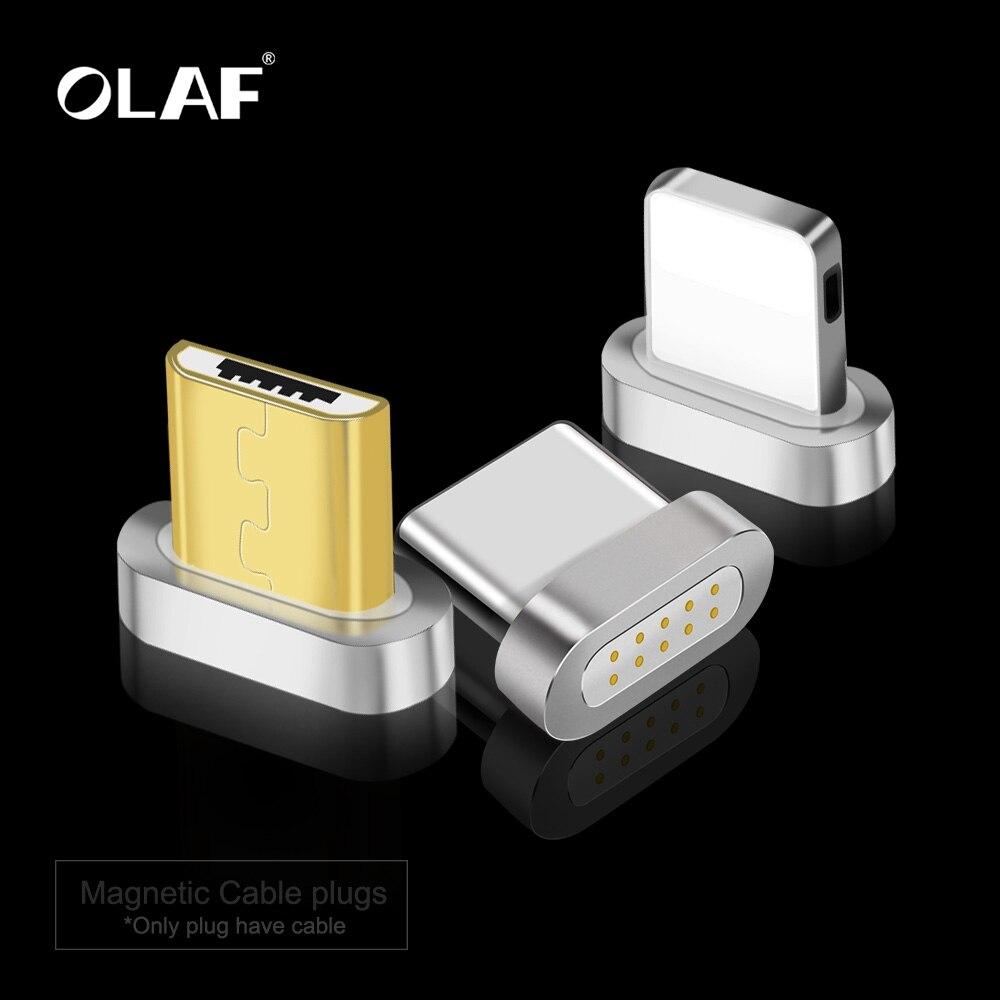 Олаф магнитное зарядное устройство USB кабель адаптер для iPhone Micro USB Type C кабель для мобильного телефона Быстрая зарядка магнит зарядное устро...