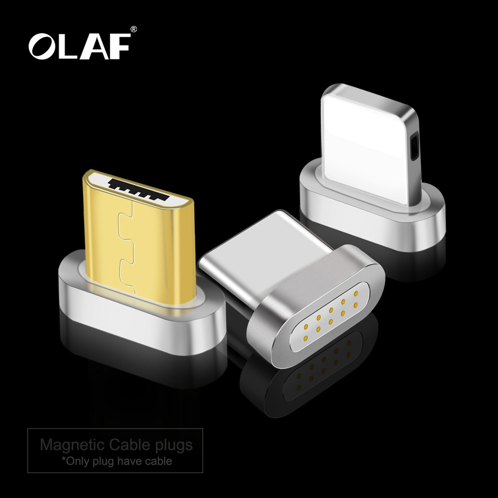 OLAF Magnetic Charger USB Cable Adapter For iPhone Micro USB Type C Mobile Phone Cable Fast Charging Magnet Charger Adapte