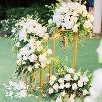 Креативные Свадебные украшения Рамка полка Прямоугольная форма металлическая дорога цитируется для вечерние стола прохода бегун центровы